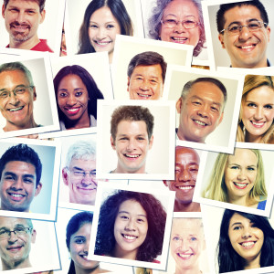 Headshot Picture Of Multi-Ethnic Group Of People Smiling